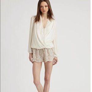 Haute Hippie Lace Shorts, antique ivory